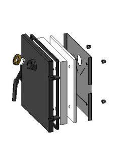 Zespół drzwiczek – wizjer 303x313 L