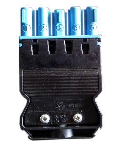 Złącze żeńskie z odciążeniem (niebieskie)