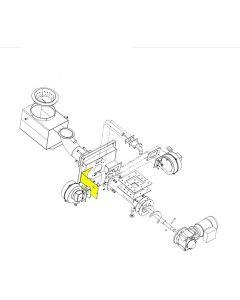 Zespół mocowania wentylatora zapalarki PFL 15 kW