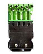 Złącze wtyk - zielony