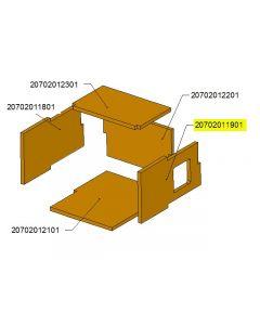 Bok palnika komory ceramicznej TBL24