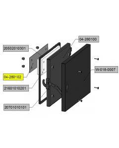 ash pan door shield