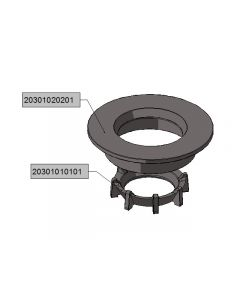 cast iron burner end-plate (cast iron crown+disk)
