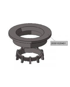 Cast iron burner end-plate