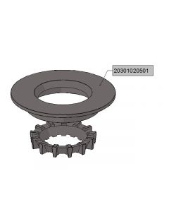 Cast iron burner end-plate