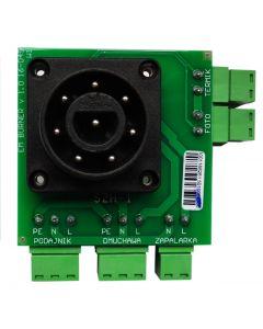 Burner plate with sensor