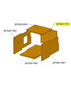 Ceramic chamber rear cover TBL16 /17-0304