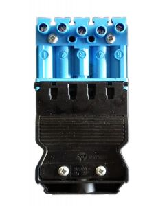 Male connector - blue